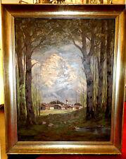 Malerei, Ölbild,Hochwald im Durchblick,Sigishofen mit Rubihorn,H.Gabler,1942