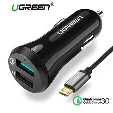 UGREEN Dual Port USB Car Charger 5V3A Quick Charge 3.0 USB Phone Charger Adapter