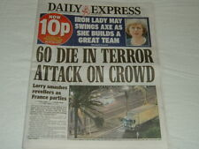 Daily Express Newspaper - 15 July 2016, France Truck Attack