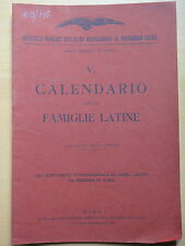 1923-QUINTO CALENDARIO DELLE FAMIGLIE LATINE-FASCISMO-ROMA