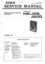 AIWA HS J08  HS J500 - SERVICE MANUAL IN COLOR VERSION -  REPAIR - EN JP 日本語 -