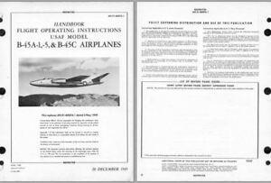 1950's B-45 Tornado Jet Manuals rare period archive 1st post war Bomber 1949