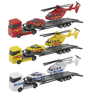 Teamsterz Helicopter Transporter car truck van rescue police fire toy Kids Gift