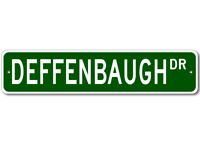 DEFFENBAUGH Street Sign - Personalized Last Name Sign