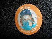 1984 7 - 11 Slurpee Disc George Brett Kansas City Royals  NrMt