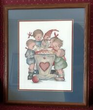 "Hummel Cross Stitch ~ ""Blessed Event"" ~ Double Matted and Professionally Framed"