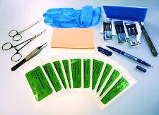 KIT di sutura di formazione professionale strumenti odontoiatrici studenti di medicina NUOVO!