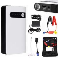 12V Mini Portable Car Jump Starter Booster Power Bank Battery Charger Flashlight