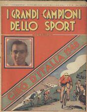 GIRO D'ITALIA 1948  I GRANDI CAMPIONI DELLO SPORT Arti Grafiche Confalonieri *