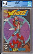 X-Force #2 CGC 9.8 White Rob Liefeld 2nd App Deadpool 1st app Weapon X