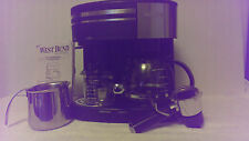 BLACK WEST BEND 3 In 1 COFFEE CENTER EXPRESSO CAPPUCCINO FROTHER BREWER