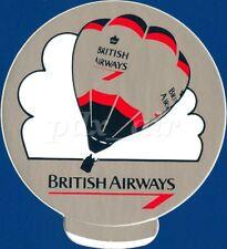 BRITISH AIRWAYS BA FLAG CARRIER HOT AIR BALLOON ULTRA RARE STICKER