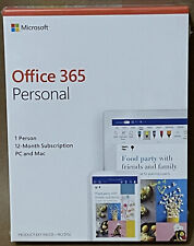 Microsoft Office 365 Personal Subscription 1 User PC/Mac - 1 Year