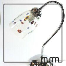 Lamp Milefiori Abat Jour Chrome With Glass Of Murano And Murrina Millefiori
