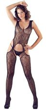 Sexy Bodystocking Lavorata colore nero + String Tutina donna Lingerie erotica