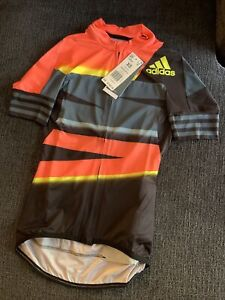 ADIDAS WOMEN APP SOLAR RED ADISTAR JERSEY FOR CYCLING SIZE XS
