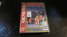 TECMO SUPER NBA BASKETBALL SEGA GENESIS VIDEO GAME CARTRIDGE BOOK CASE POSTER