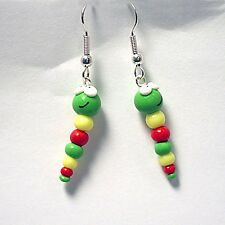 cute caterpillar drop earrings emo