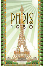 travel vintage paris 1930 A1 print  poster for your glass frame