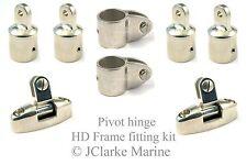 "1"" HD range boat canopy pivot hinge frame fittings kit sprayhood binimi cover"