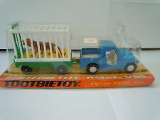 Rare & Vintage 1969 Only Tootsietoy Hitch-Ups Jeep And Tiger With Trailer MInt