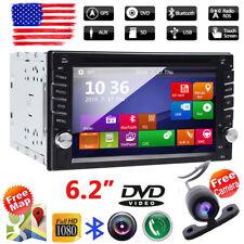 "6.2""HD Car GPS Bluetooth Stereo 2 Din Flip Radio MP5 CD Player Touch Screen +Cam"