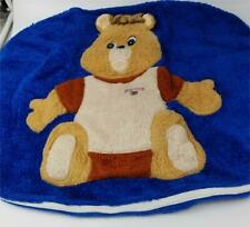"Vintage 1985 Plush Blue Teddy Ruxpin Fuzzy Pillow Cover Rare 25"" Long"