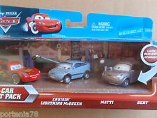 Disney Cars 3 Pack Skyline Lenticular CRUSIN MCQUEEN MATTI & BERT Error