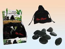 Bienestar piedras calientes masaje 9 piedras por Bolsa Bolsa De Terciopelo Relajante Regalo Nuevo