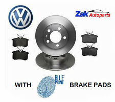 VW POLO 6R (09-) 1.2 1.4 1.6 TDi REAR VENTED BRAKE DISCS AND BLUEPRINT PADS SET
