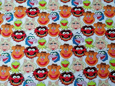 Kermit Muppet Show 10 X 112 cm Baumwollstoff 130 g/qm Miss Piggy Krümelmonster