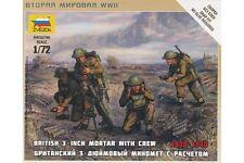 ZVEZDA 6168 1/72 British 3 Inch Mortar with Crew