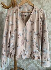 Klass Jacket. BNWOT. Size 22. Dusky Pink. Floral. Frill Detail. Biker Style.