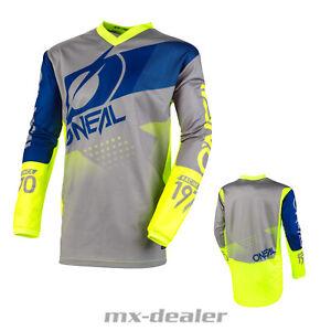 2021 O'Neal Élément Enfants Jersey Facteur Bleu Tricot MX Dh MTB BMX Motocross