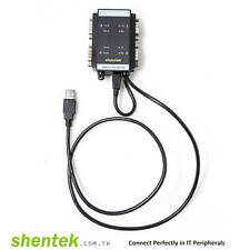 Industrial FTDI USB2.0 to 4port Serial RS232 Com Adapter RS-232 shentek Din-Rail