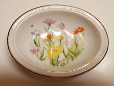VTG Vintage Ben Rickert Porcelain Fine China Trinket Soap Dish Floral Beauty