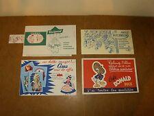 4 anciens beaux buvards années 50's - Céma + Hutchinson + Donald Duck + Vérigoud