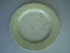"""Pier 1 Antiqued 8 1/4"""" SALAD PLATE Sage Tan Beige Leaf Pattern"""