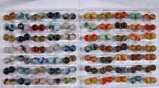 "COMPREHENSIVE SET OF 2007 JABO CLASSICS RUN 5/8"" (980) MARBLES IN DISPLAY CASES"