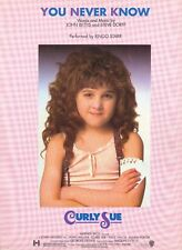 You Never Know - Ringo Starr - Curly Sue - 1991 Sheet Music