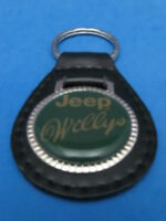 WILLYS WILLY'S JEEP AUTO TRUCK LEATHER KEYCHAIN KEY CHAIN RING FOB #191