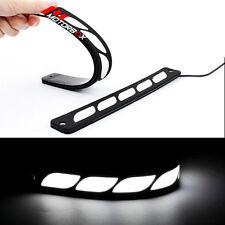 2pcs White DRL LED Car Daytime Running Light Flexible Day Light 12V Fog Light