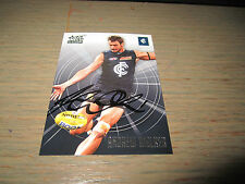 CARLTON BLUES - ANDREW WALKER SIGNED AFL 2011 AFL SELECT CARD
