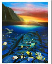 "WYLAND ""KISS FOR THE SEA"" S/N GICLEE ON CANVAS WITH COA"