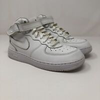 Boy's Nike Air Force 1 MID (PS) 314196 113 White Youth Size 3Y