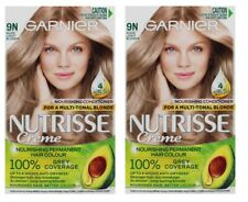 2 x GARNIER NUTRISSE CREME NOURISHING PERMANENT HAIR COLOUR 9N NUDE LIGHT BLONDE