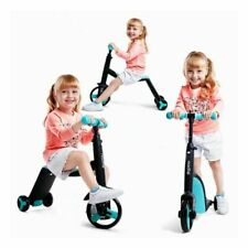 Babys Scooter Tricycle 3 In 1 Balance Bike Ride On Children Metal Rubber Toys