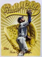 1999 99 Topps Hands of Gold Ken Griffey Jr #HG3, Insert, Die-Cut, Mariners