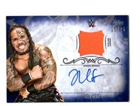 WWE Jey Uso 2016 Topps Undisputed Blue Autograph Relic Card SN 23 of 25
