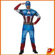 Costume Carnevale Halloween Uomo Capitan America Tg  52-54